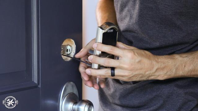 installing keyless deadbolt on front door