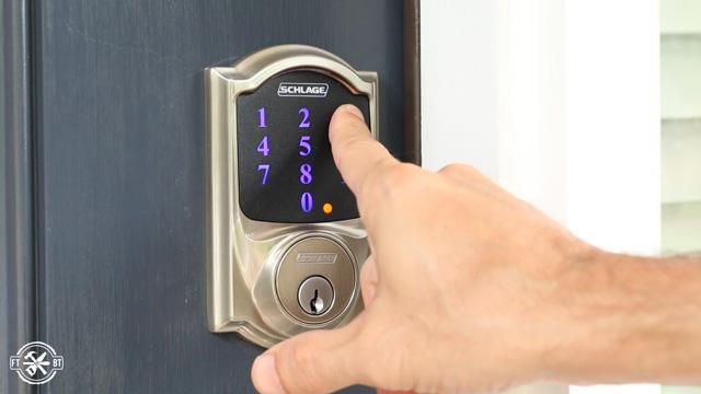 adding key code to keyless lock on front door