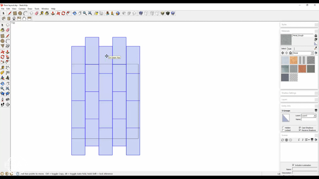 using sketchup to determine how to arrange tiles