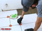 how to tile a bathroom floor with leveling spacers