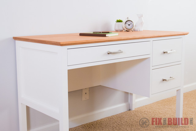 How To Build A Desk With Drawers Diy Desk Plans