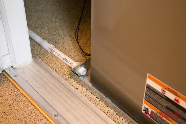Furnace Overflow Tube Drip Pan Inspection