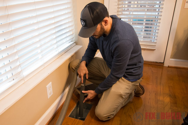 diy cleaning air ducts