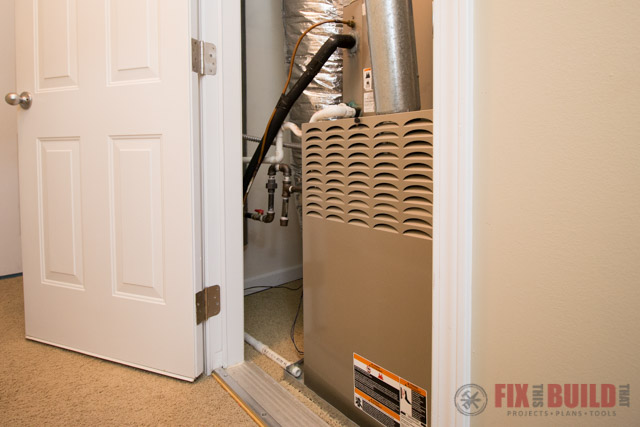 HVAC Furnance in Closet Maintenance