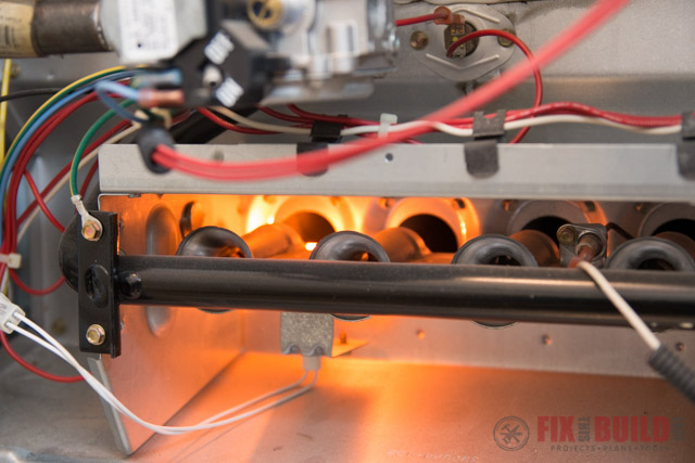 hot surface ignitor in furnace