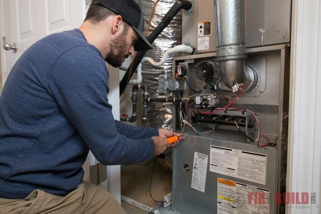 Furnace Maintenance Panel Removal