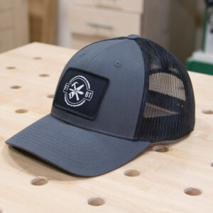 FixThisBuildThat Charcoal Trucker Hat Angled