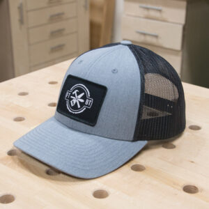 FixThisBuildThat Heather Gray Trucker Hat Angled