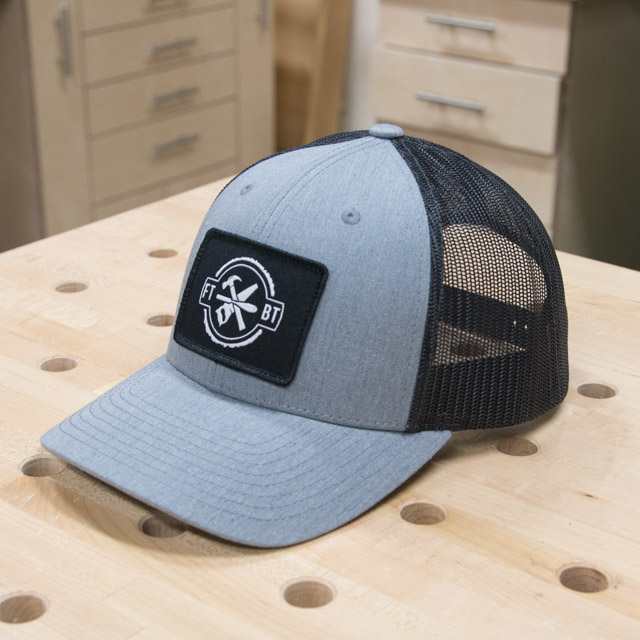 7e47c769acb66 FixThisBuildThat Heather Gray Trucker Hat Angled