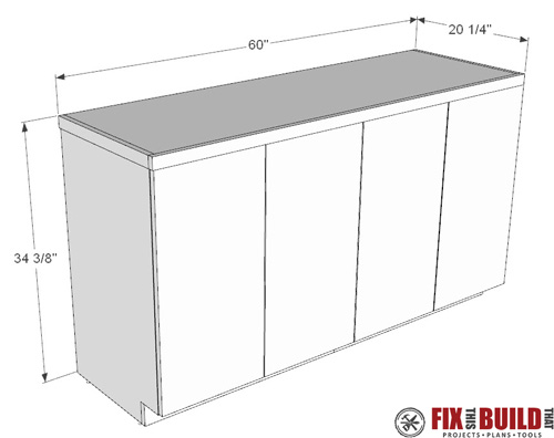 DIY Garage Cabinets Plans PDF