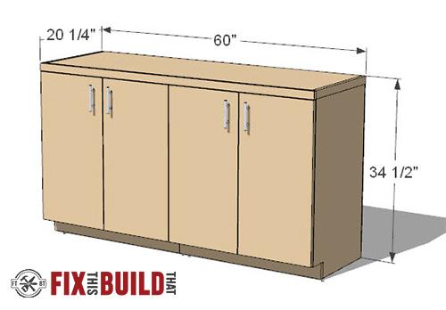 diy garage base cabinet plans
