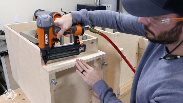 cabinet toe kick install