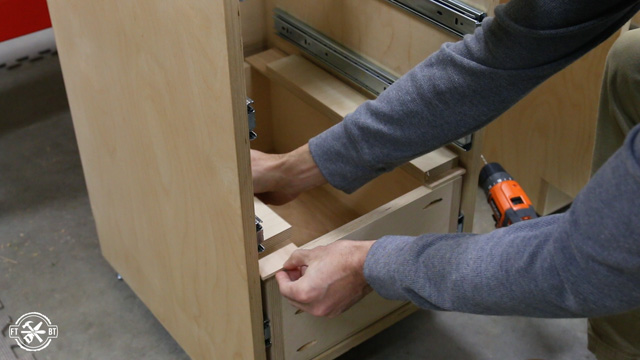 installing drawers in a cabinet