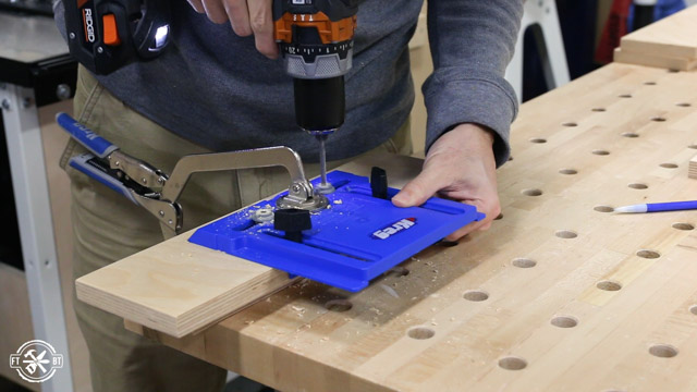 drilling cabinet pull holes