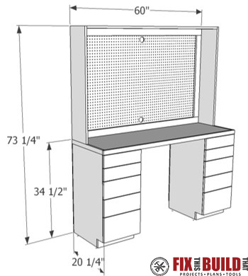 DIY Garage Workbench Plans PDF