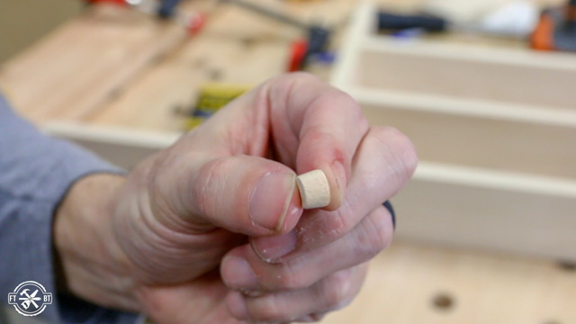 using wood plugs to cover screws