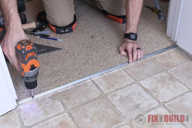 installing vinyl flooring transition