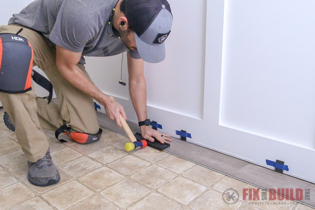 making flush seams on vinyl plank flooring