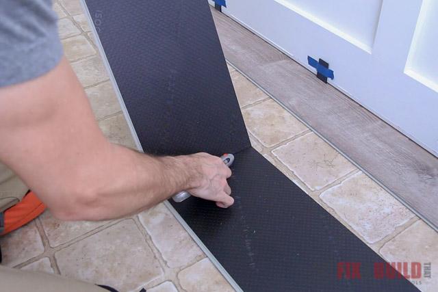 snapping vinyl plank flooring