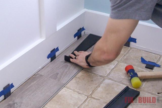 using pull bar on vinyl plank flooring