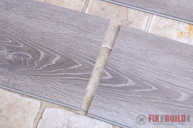 clean cut on vinyl plank flooring