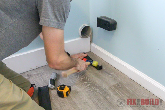 finishing vinyl plank floor install