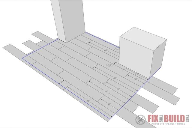 vinyl plank flooring layout