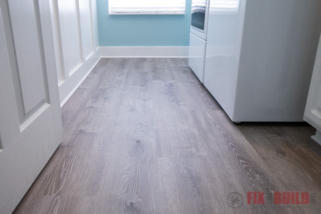 installing vinyl plank flooring in laundry room