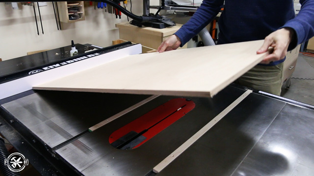 table saw sled on runners