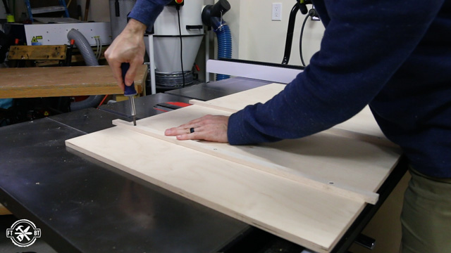 attaching runners to table saw sled