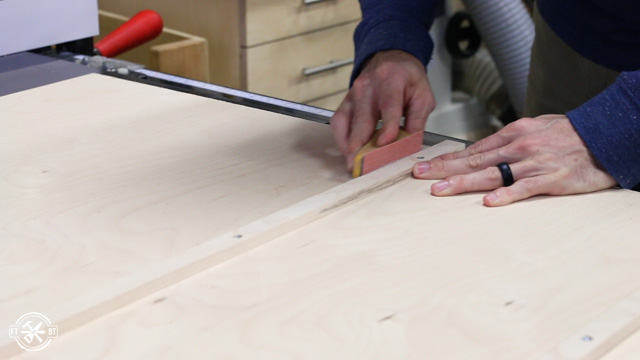 sanding runners on table saw sled