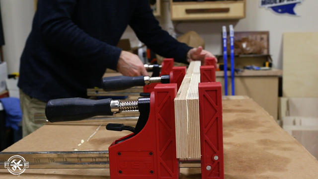 gluing plywood for crosscut sled