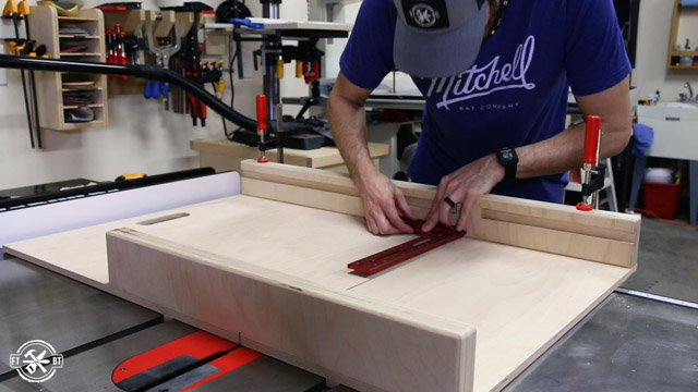 squaring up fence on table saw sled