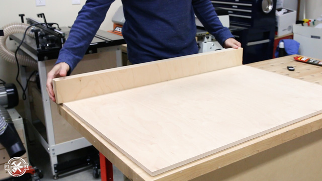 marking back fence of table saw sled