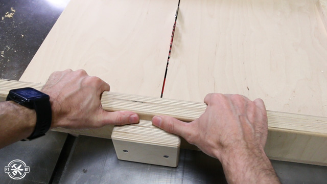 table saw sled with stop block
