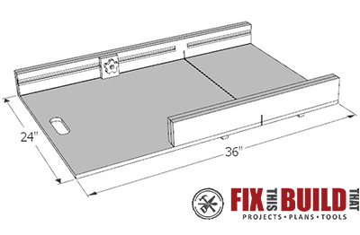 Table saw sled plans crosscut sled