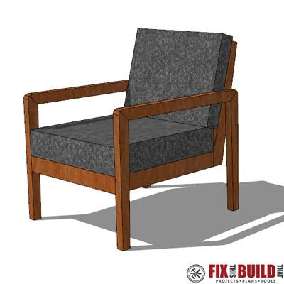 DIY Modern Outdoor Chair Plans