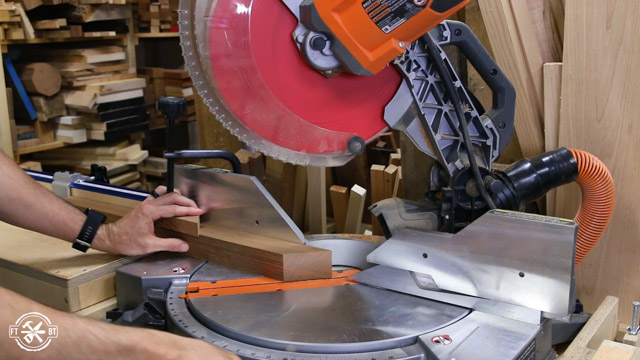 miter saw to cut chair legs to length