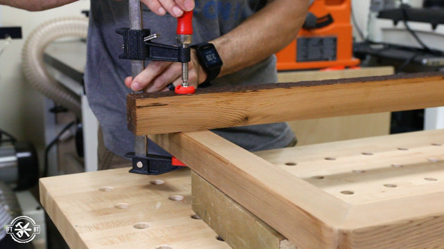 clamping wood to chair legs