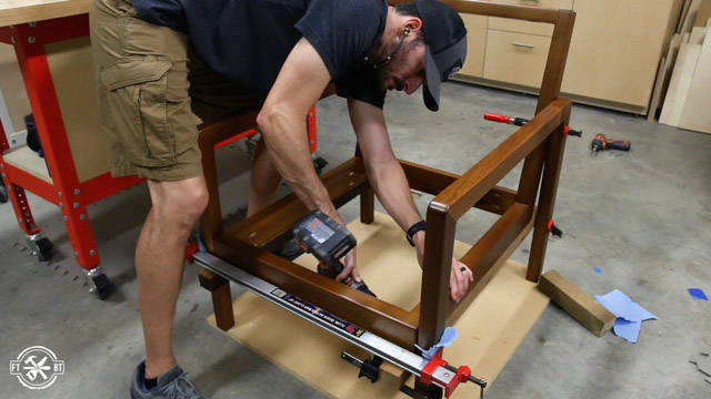 screwing chair legs to base