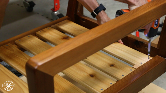 attaching slats to chair