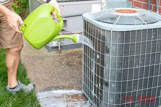 how to clean air conditioning unit