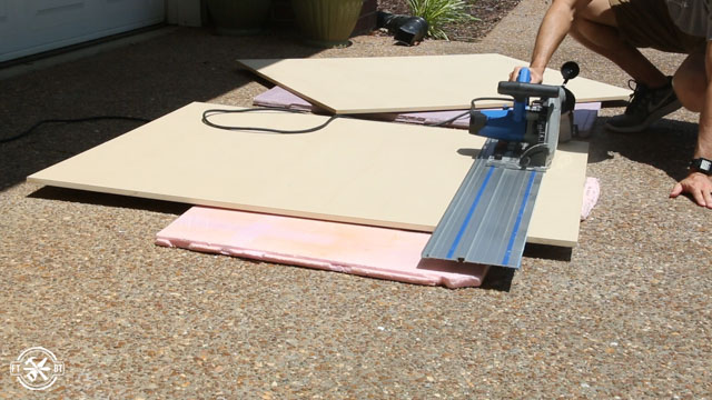 cutting MDF to size with track saw