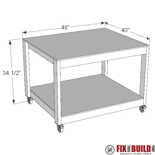 DIY Work Table Free Plans