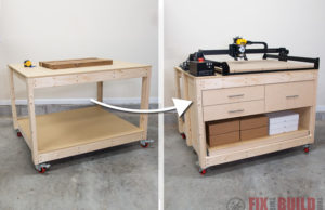 Adding Drawers to a Workbench