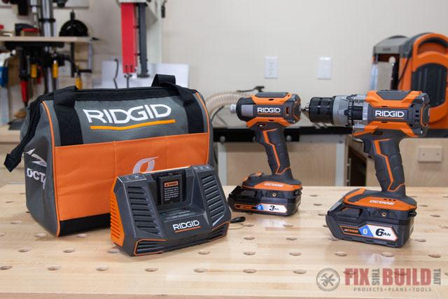 RIDGID Octane Drill Driver Combo Kit