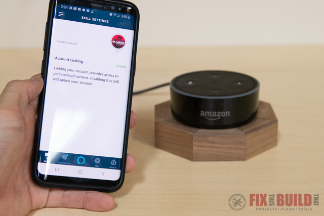 aladdin connect alexa setup