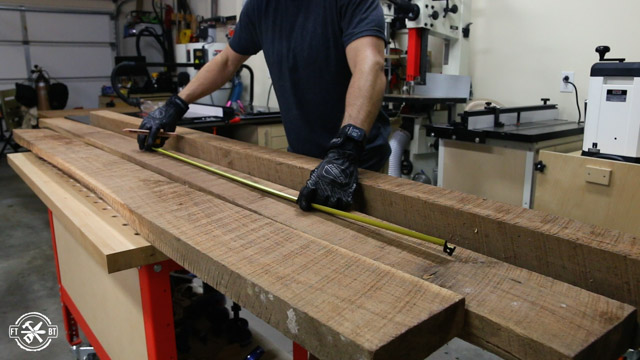 Measuring rough lumber
