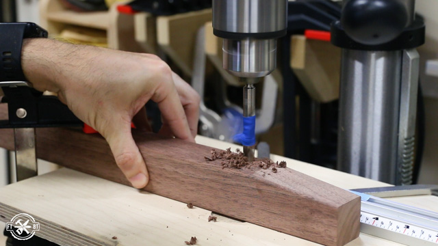 using drill press to make holes for dowel joinery