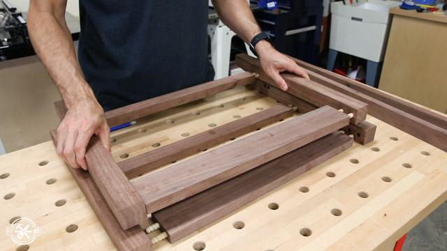 taking apart wooden